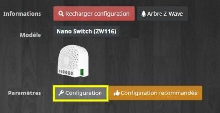 Accéder à la configuration du module ZW116 d'Aeotec compatible Z-Wave avec Jeedom