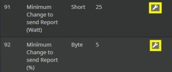 Variation de puissance entre deux rapports sur le module ZW116 d'Aeotec compatible Z-Wave avec Jeedom