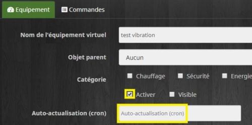 Créer un virtuel pour ajouter un déclencheur dans le plugin Alarme avec Jeedom