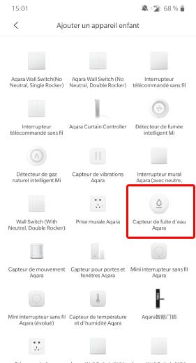 Ajouter capteur d'eau Xiaomi Aqara dans Jeedom