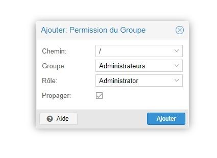 Ajouter administrateur Proxmox