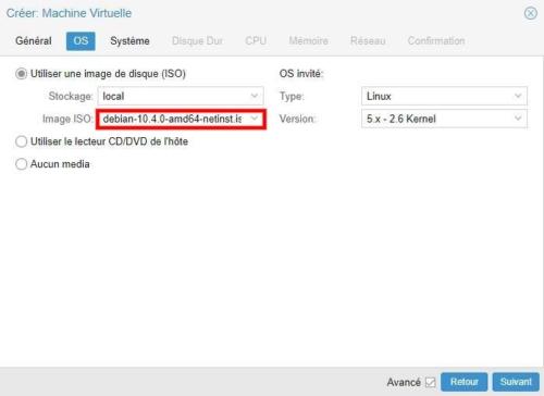 Créer machine virtuelle sous Debian 10