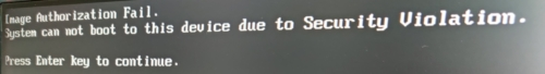 Désactiver le secure boot depuis le bios du NUC Intel