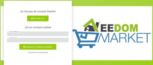 Créer un compte ou se connecter sur le Market de Jeedom