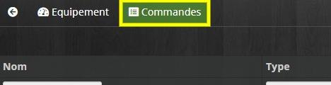 Accéder à l'onglet Commandes de l'actionneur DCL du plugin Odace SFSP sur Jeedom