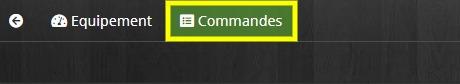 Accéder à l'onglet Commandes de l'interrupteur SFSP avec le plugin Odace SFSP et Jeedom