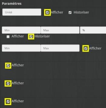 Accéder aux commandes de l'actionneur volet roulant Schneider Electric Odace SFSP dans Jeedom