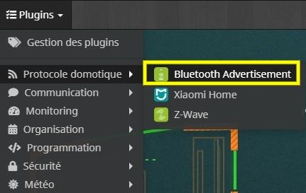 Accéder à la liste des équipements du plugin Bluetooth blea dans Jeedom