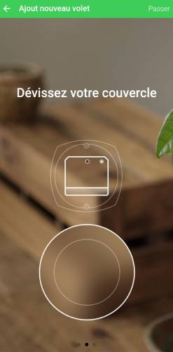 Ajouter actionneur volet roulant via application mobile Schneider Electric Odace SFSP