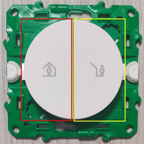 Appairage bouton d'un interrupteur de scènes Odace SFSP