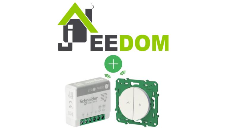 Schneider electric actionneur pour volet roulant Odace SFSP compatible avec Jeedom