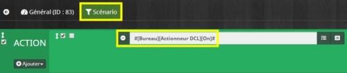 Créer scénario interrupteur double sans fil sans pile pour commande scène groupée entrée / sortie Odace SFSP dans Jeedom