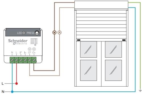 Schneider electric installation actionneur pour volet roulant Odace SFSP avec Jeedom