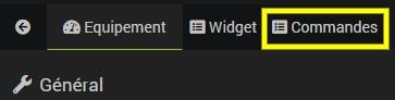 Accéder à la liste des commandes de l'équipement Vitoconnect avec Jeedom