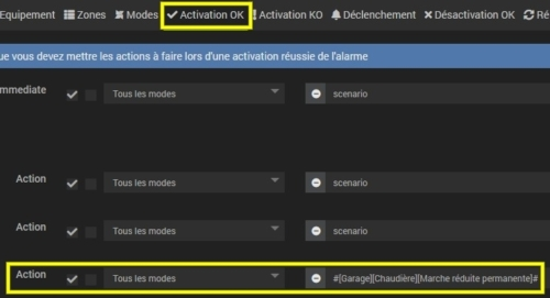 Activer la marche réduite de la chaudière en cas d'activation de l'alarme sur avec Vitoconnect et Jeedom