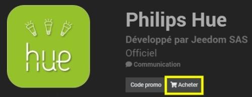 Installer le plugin Philips Hue officiel et compatible avec Jeedom