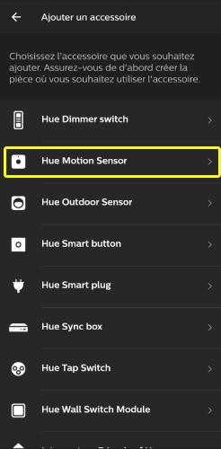 Ajouter un équipement avec l'application Philips Hue