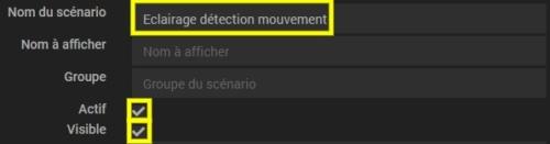Créer scénario éclairage à la détection de mouvement avec Philips Hue et Jeedom