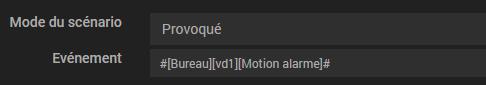 Créer scénario détection mouvement sonnette vidéo VD1 avec Jeedom