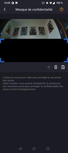 Définir une zone de détection sur sonnette vidéo connectée Foscam VD1