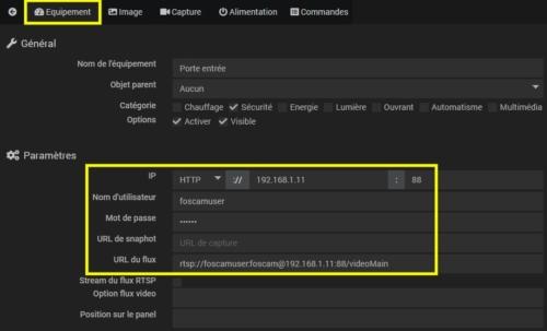 Intégration de la sonnette vidéo Foscam VD1 dans Jeedom