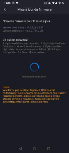 Mise à jour du firmware de la sonnette vidéo Foscam VD1
