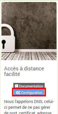 Activer service DNS Jeedom